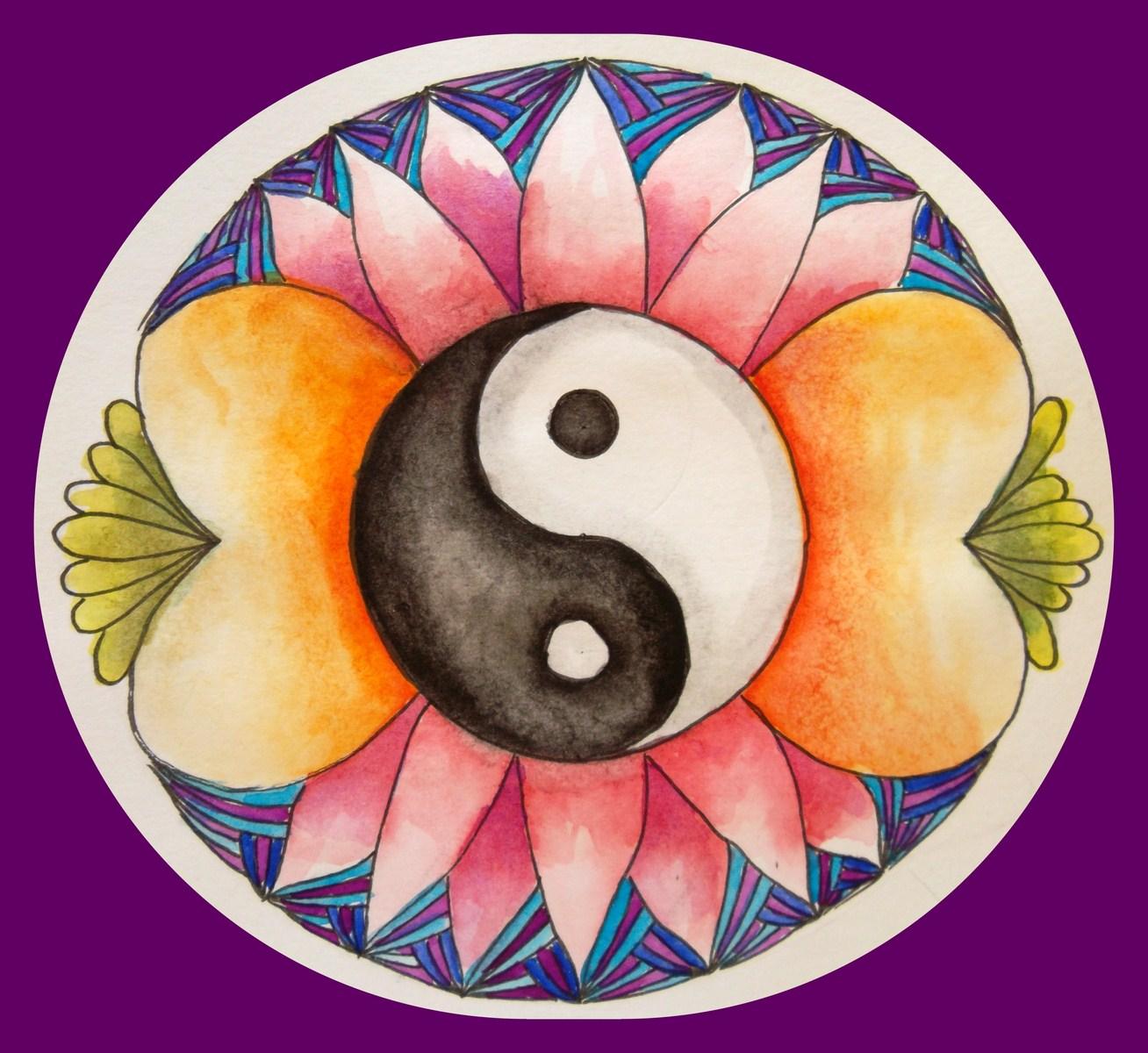 yoga brengt je in balans, evenwicht - kopie